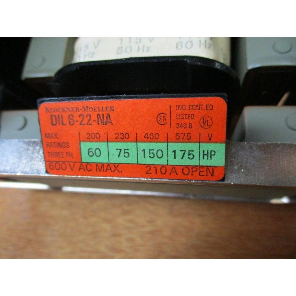 Klockner Moeller DIL622NA Dual Voltage Universal Contactor NEW