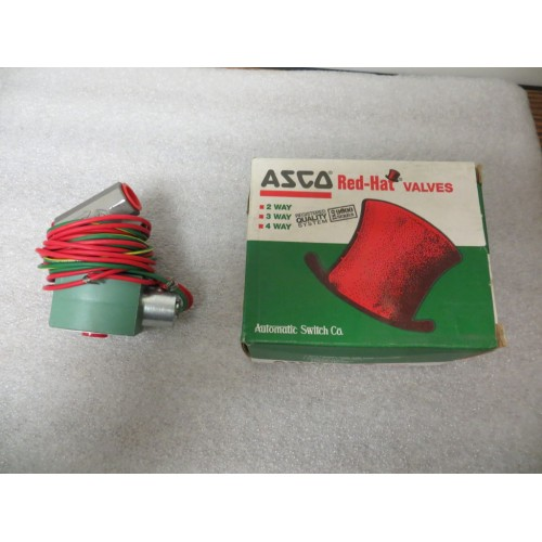 """ASCO L8210G36 Solenoid Valve 3/8"""" 2 Way Normally Closed 120 Volts AC New"""
